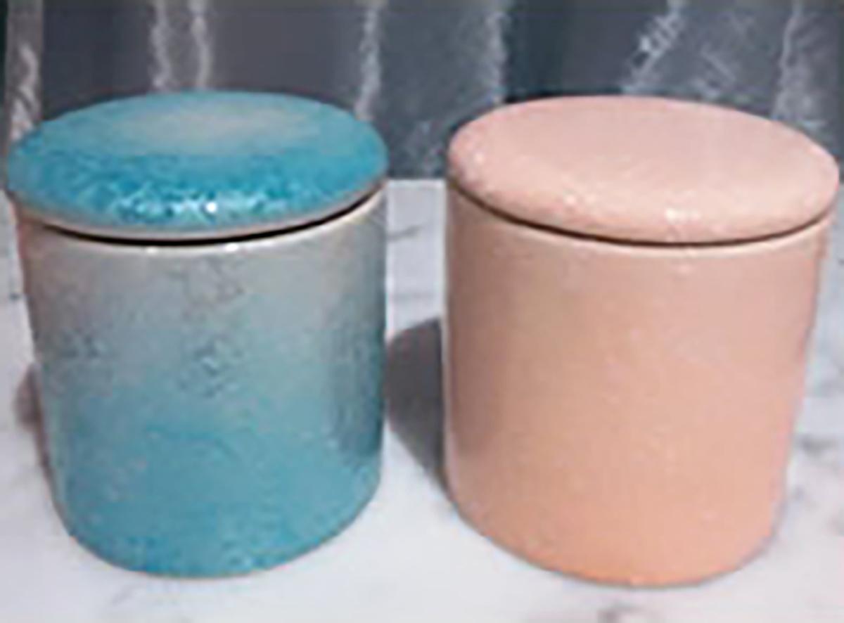 シリコン付骨壺(さくら、ブルー)